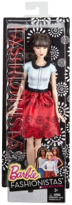 Barbie Fashionistas Doll - Ruby Red Floral NRFB