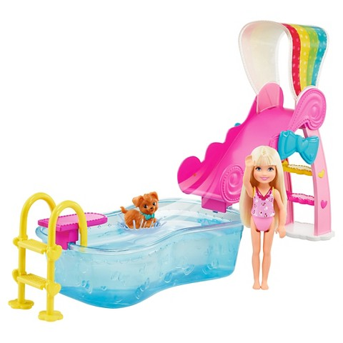 Barbie Flippin' Pup Pool! Chelsea Doll Playset