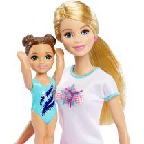 Barbie Flipping Fun Gymnast Set faces