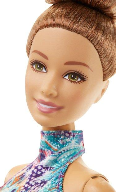 Barbie Gymnastics Doll, Brunette face