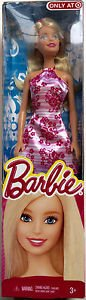 Barbie in Pink-White Floral Dress, Target Exclusive