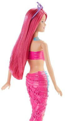 Barbie Mermaid Doll, Rainbow Fashion back