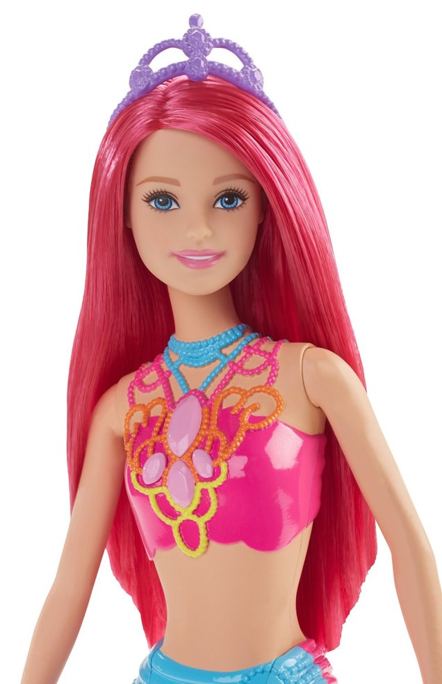 Barbie Mermaid Doll, Rainbow Fashion face