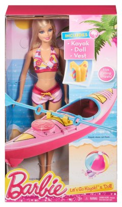 Barbie On-The-Go Beach Doll and Kayak Set