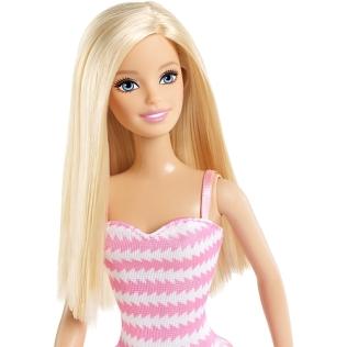 Barbie - Pink Striped Sundress face
