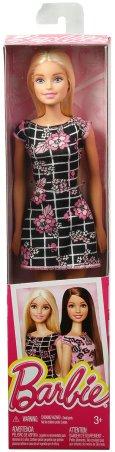 Barbie Pink-Tastic Doll, Floral Art On Black Dress NRFB