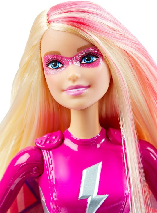 Barbie Power Super Hero Doll face