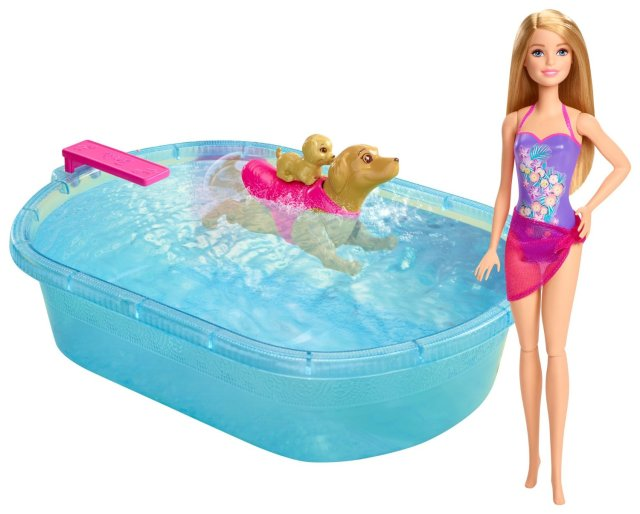Barbie Pup Pool and Diving Board Set
