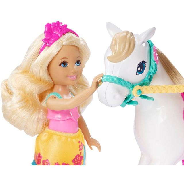 Barbie Puppy Chase Chelsea Doll & Horse face