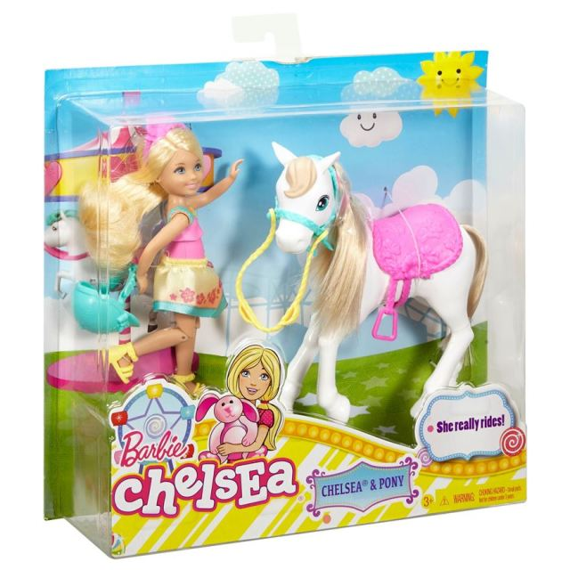 Barbie Puppy Chase Chelsea Doll & Horse nrfb