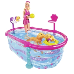 Barbie Puppy Swim School with Pool Playset flyer
