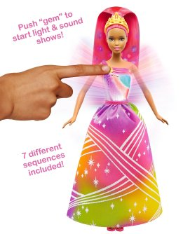 Barbie Rainbow Princess Lights and Sounds Doll2