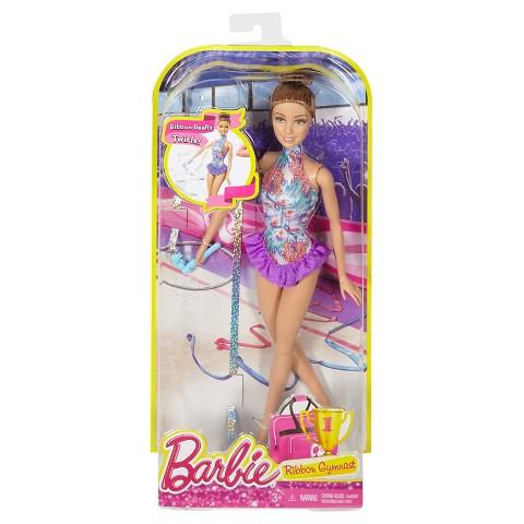 Barbie Ribbon Gymnast gold blonde NRFB