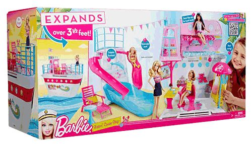 Barbie Sisters Cruise Ship nrfb