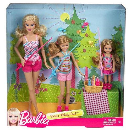 Barbie Sisters' Fishing Fun! Set of 3 (Barbie, Stacie, Chelsea)
