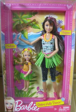 Barbie Sisters Hula Dance Skipper and Chelsea Doll n