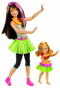 Barbie Sisters Hula Dance Skipper and Chelsea Doll