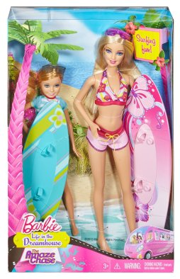 Barbie Sisters Surfing Barbie and Stacie Doll (2-Pack) nrfb