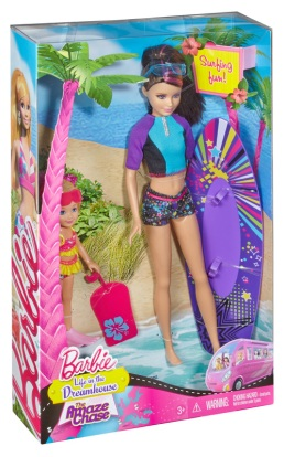 #CBR17 Barbie™ Life in the Dreamhouse The Amaze Chase™ Skipper® & Chelsea® Dolls (Surfing).