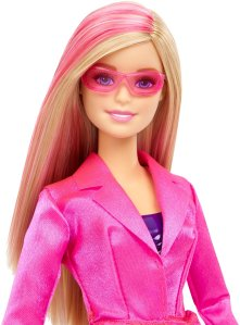 Barbie Spy Squad Barbie Secret Agent Doll face