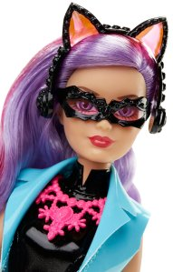Barbie Spy Squad Cat Burglar Doll face