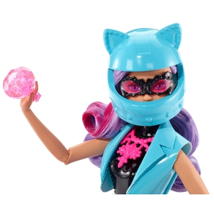 Barbie - Spy Squad Doll and Motorcycle face