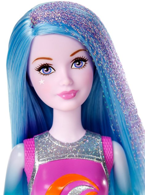 Barbie Star Light Adventure Blue and Purple Hair Junior face