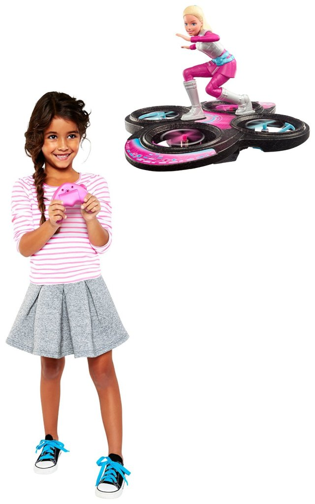 Barbie Star Light Adventure Flying RC Hoverboard Doll poster