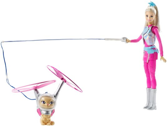 Barbie Star Light Adventure Galaxy Barbie Doll & Hover Cat flyer