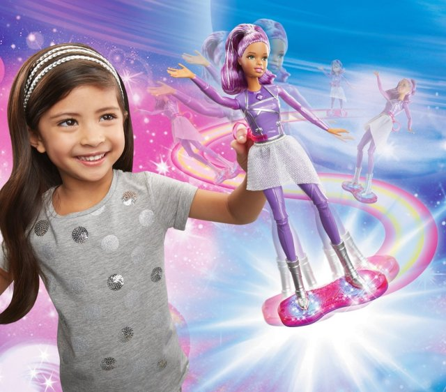 Barbie Star Light Adventure Lights & Sounds Hoverboarder flyer