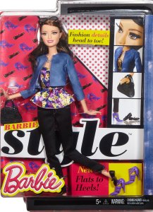 Barbie Style Raquelle Doll, Black Pants & Blue Jacket nrfb