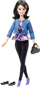 Barbie Style Raquelle Doll, Black Pants & Blue Jacket