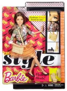 Barbie Style Teresa Doll, Floral Jacket & Orange Ruffle Skirt nrfb