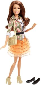 Barbie Style Teresa Doll, Floral Jacket & Orange Ruffle Skirt