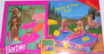 Barbie Sun Sensation Spray & Play Fun gift set