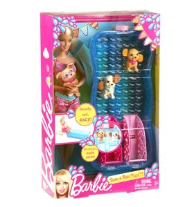 Barbie Swim and Race Pups Playset
