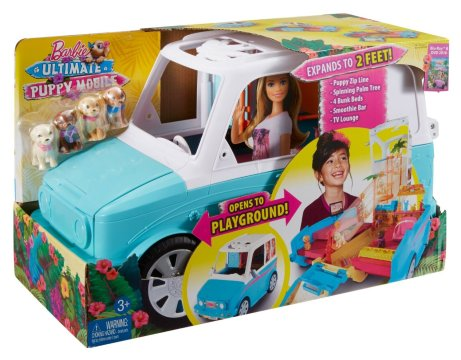 Barbie Ultimate Puppy Mobile Vehicle nrfb