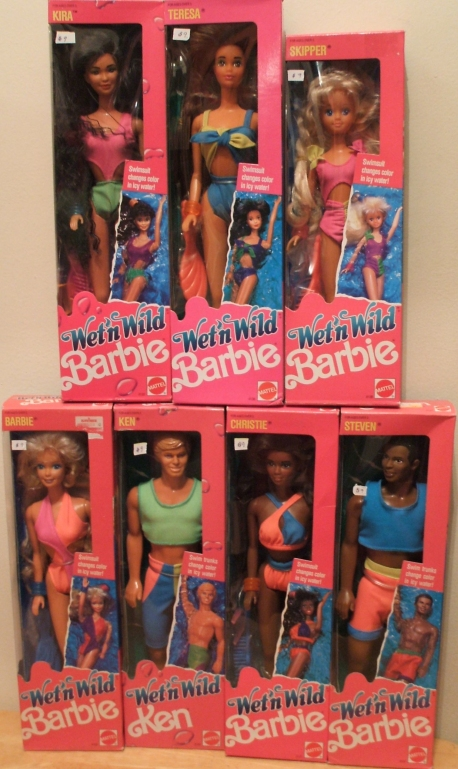 Barbie Wet'n Wild dolls