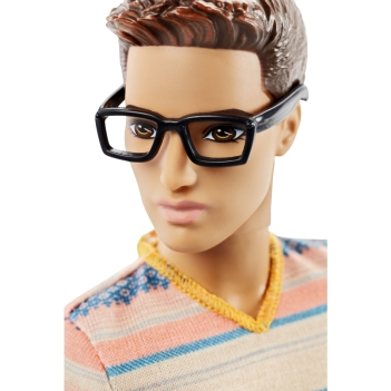 Barbie® Fashionistas™ Ken™ Doll 3 Stylin Stripes face