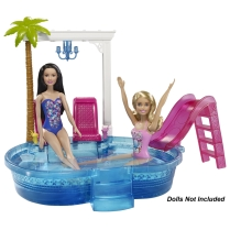 Barbie® Glam Pool dolls
