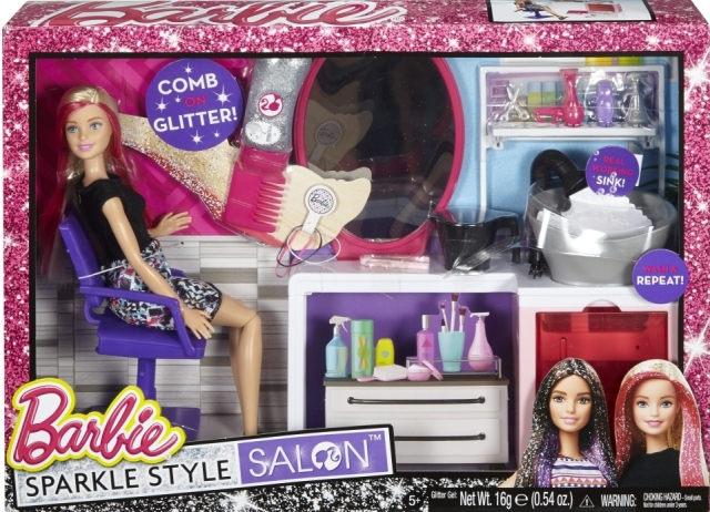 Barbie® Sparkle Style Salon™ & Doll - Blonde NRFB