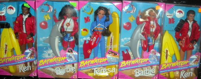 BAYWATCH BARBIE Doll all 5
