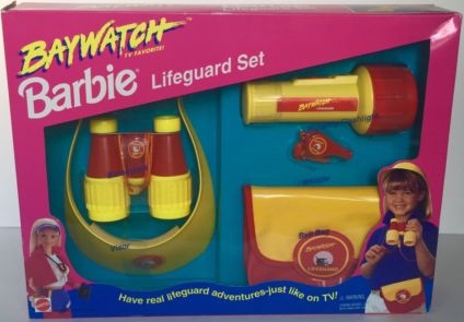 BAYWATCH BARBIE LIFEGUARD SET