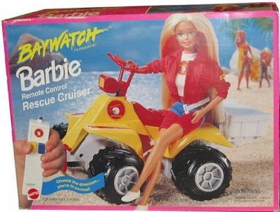 BAYWATCH Barbie Remote Control Rescue Cruiser