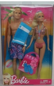 Beach, Barbie and Ken Dollsn