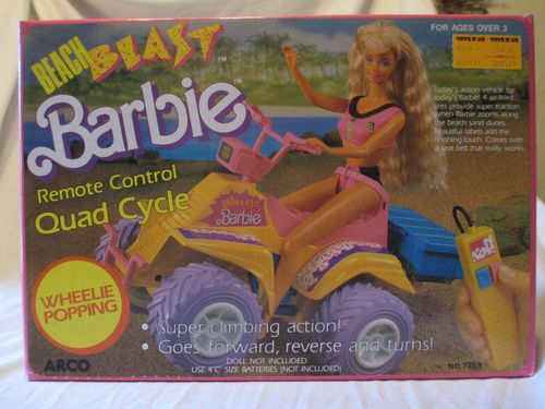 beach bast Barbie Remote Control Quad Cycle