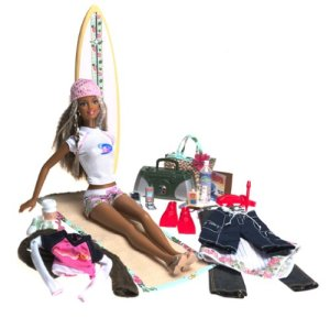 Cali Girl Barbie Fashion Gift Set