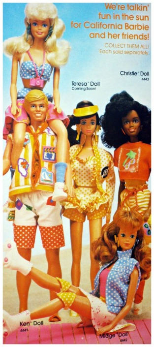 California Dream BARBIE Malibu Beach dolls