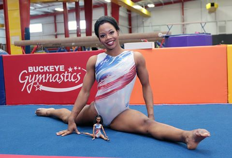 Gabby Douglas strikes a pose with her one-of-a-kind