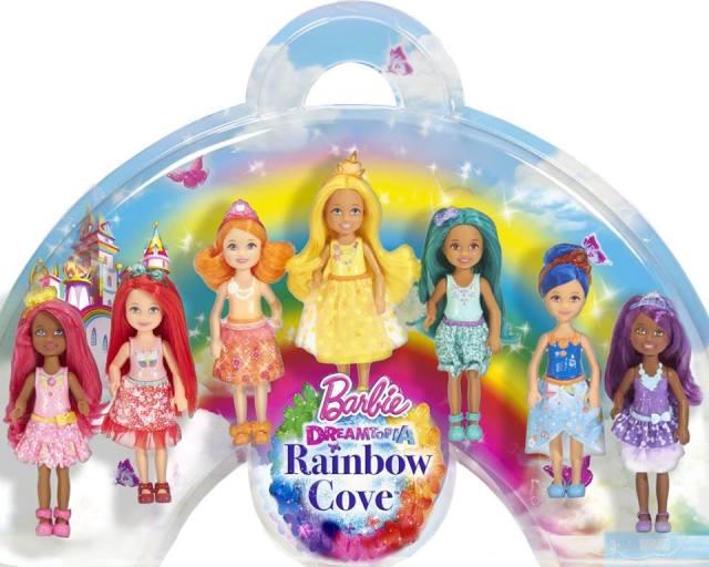 2016 Barbie Dreamtopia Rainbow Cove Chelsea and Friends